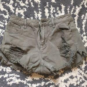 PacSun High Rise Festival Jean Shorts